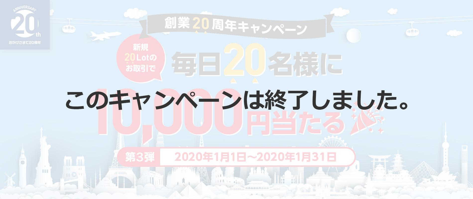 創業20周年記念キャンペーン第3弾